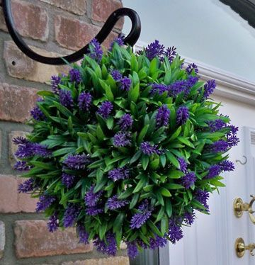 14 Best Images About Artificial Flowers In Hanging Baskets