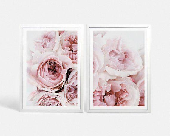 Set Of 2 Peonies Print Set Blush Pink Peony Wall Art Floral Print Pink Peony Art Peony Flower Print Large Bedroom Wall Art Digital Download Pink Peonies Print Pink Peonies Art