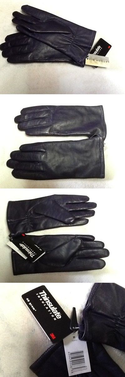 Gloves and Mittens 105559: Kim Rogers Leather Thinsulate Gloves Women S Size M Medium Nwt New With Tags -> BUY IT NOW ONLY: $30 on eBay!