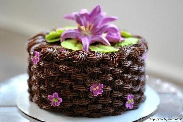 Украшаем торт - просто и эффектно