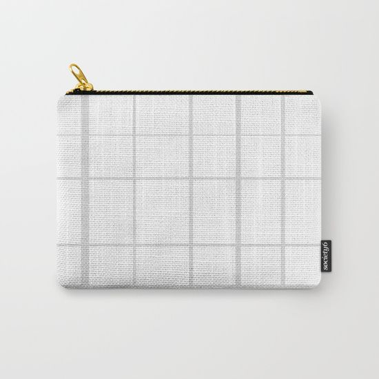 Grid Grey Carry-All Pouch by Bravely Optimistic | Society6