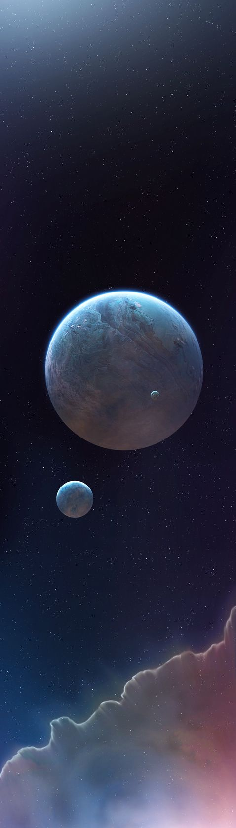 Two Planets Landscape Wallpaper Download, Two Planets Landscape HD ... www.wapdam.in - 360 × 640 - Search by image