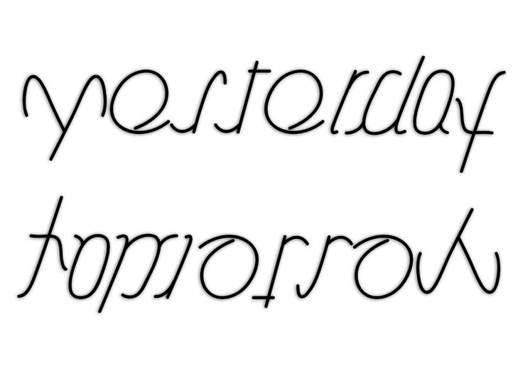 yesterday-tomorrow ambigram by Nelde