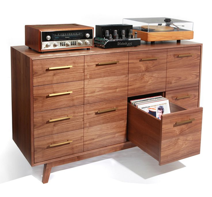 This is so sweet.  A custom made record cabinet by Atocha Design.  My Christmas wishlist just got a lot more expensive.