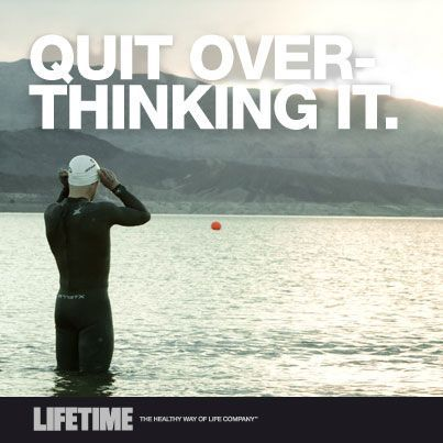 Quit over thinking it. Triathlon open water swimming tips.