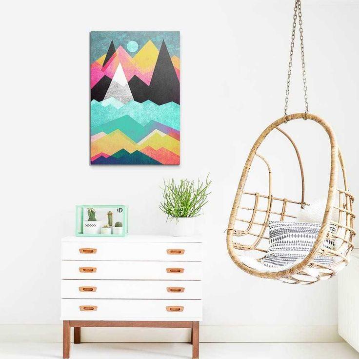 """""""Candyland"""". Tableau Design Numéroté by @efredriksso1458 - A partir de 29 € - www.chall.fr - #decorationinterieur #Artprint #inspiration #idéedeco #geometrique"""