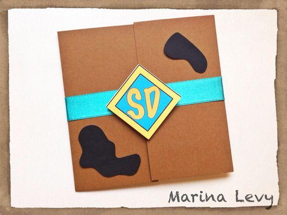 Convite Scooby Doo | MarinaLevy | Elo7
