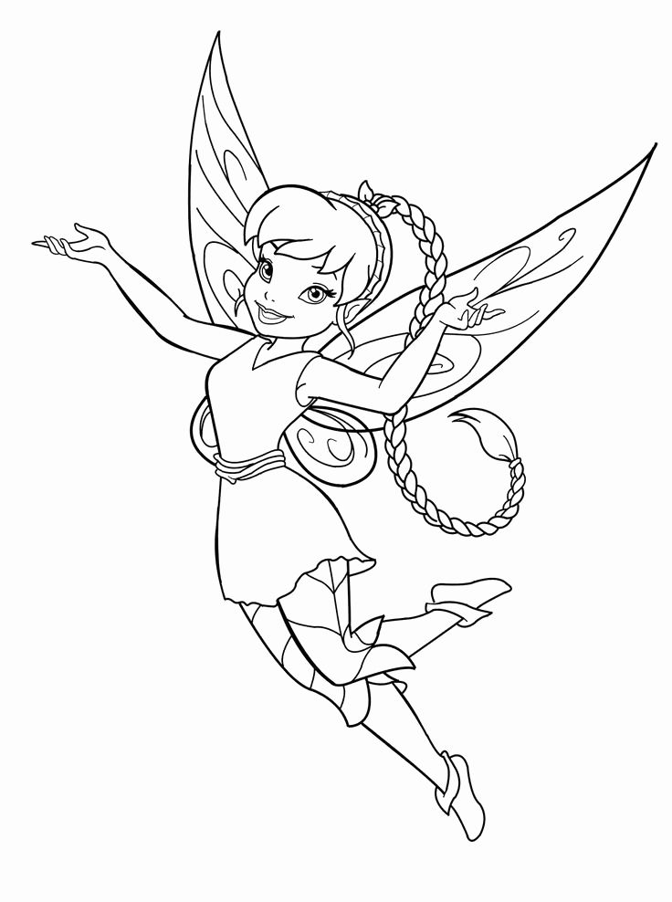 Tinker Bell Coloring Picture Fawn From Tinkerbell Coloring Pages