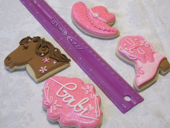 Cowboy Cowgirl Cookies Western Rodeo Birthday Party Cookie