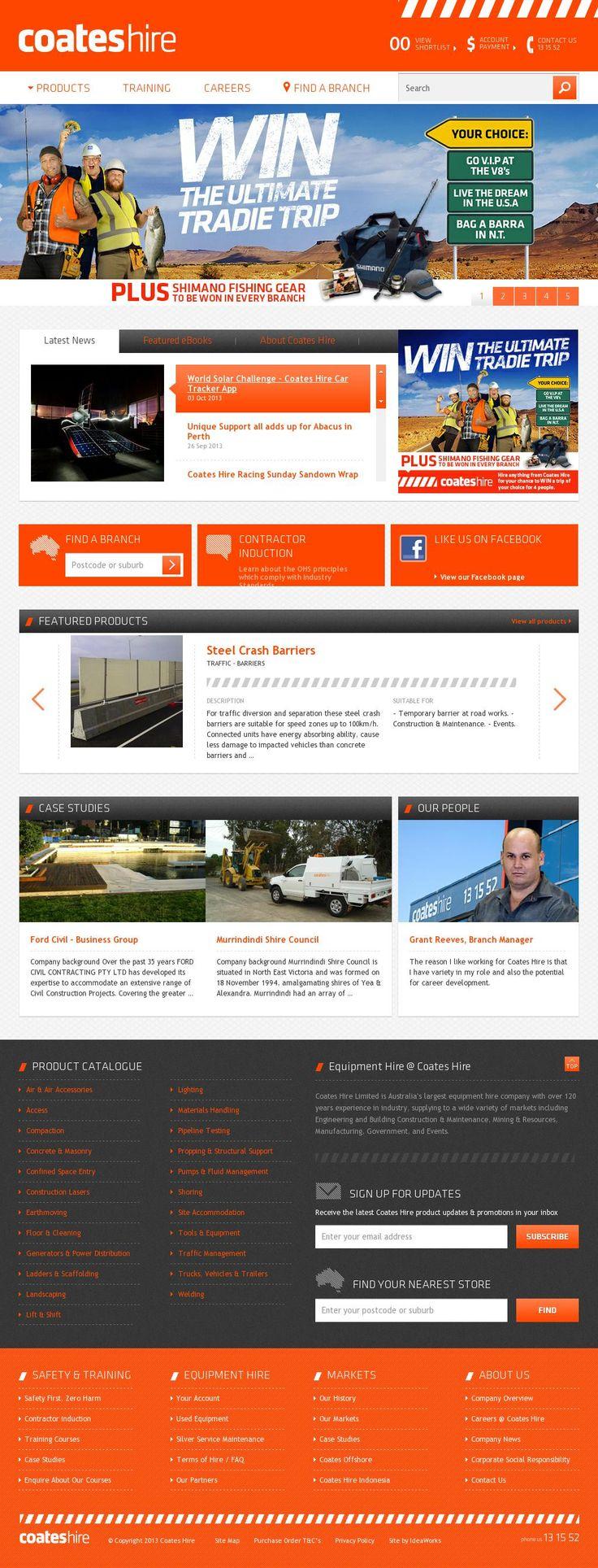 The website 'http://www.coateshire.com.au/home' courtesy of @Pinstamatic (http://pinstamatic.com)