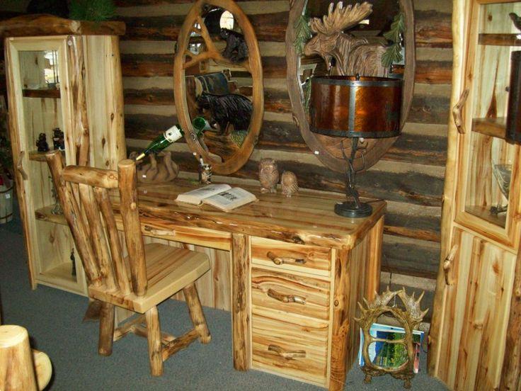 Desks and Office Furniture - Williams Log Cabin Furniture Colorado Rustic Log Furniture