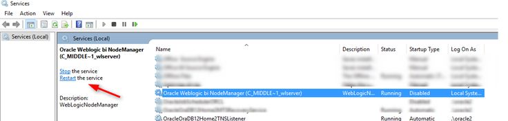 How to install OBIEE 12C NodeManager as Windows Service