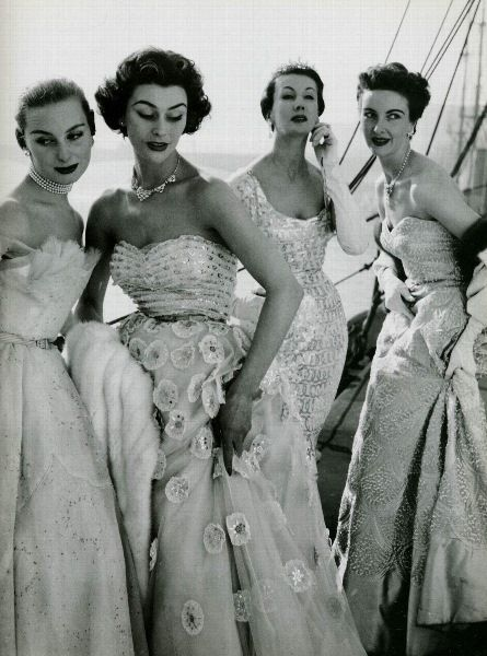 Evening Gowns by Hartnell 1953