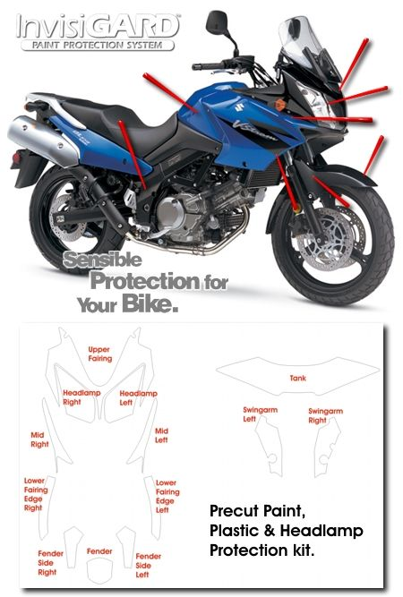 InvisiGARD Invisible Clear Paint & Headlight protection kits for Suzuki V-Strom 650