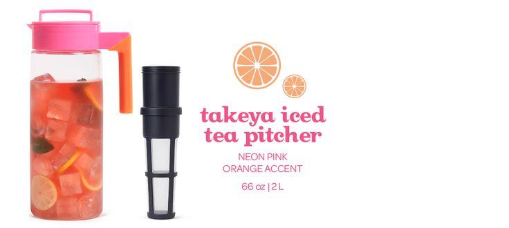 Pink and Orange Iced Tea Pitcher by DavidsTea