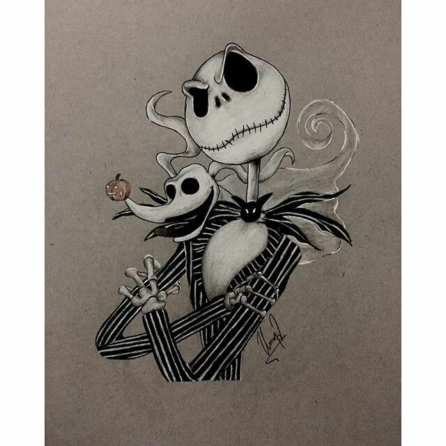 jack skellington drawings - 640×640