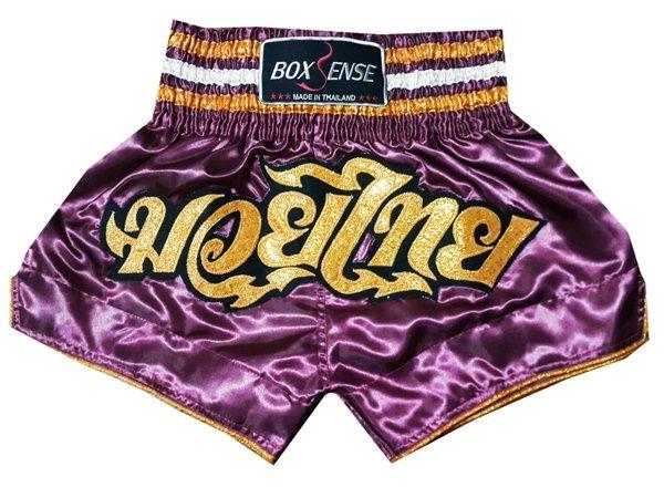 Boxsense Thai Boxing Shorts : BXS-014-Violet