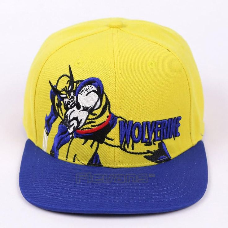 X-Men Wolverine Blue and Yellow Streetwear Snapback Baseball Cap     #X-Men #Wolverine #Blue #and #Yellow #Streetwear #Snapback #Baseball #Cap