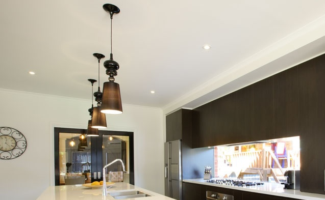 Light fixtures in a kitchen renovation