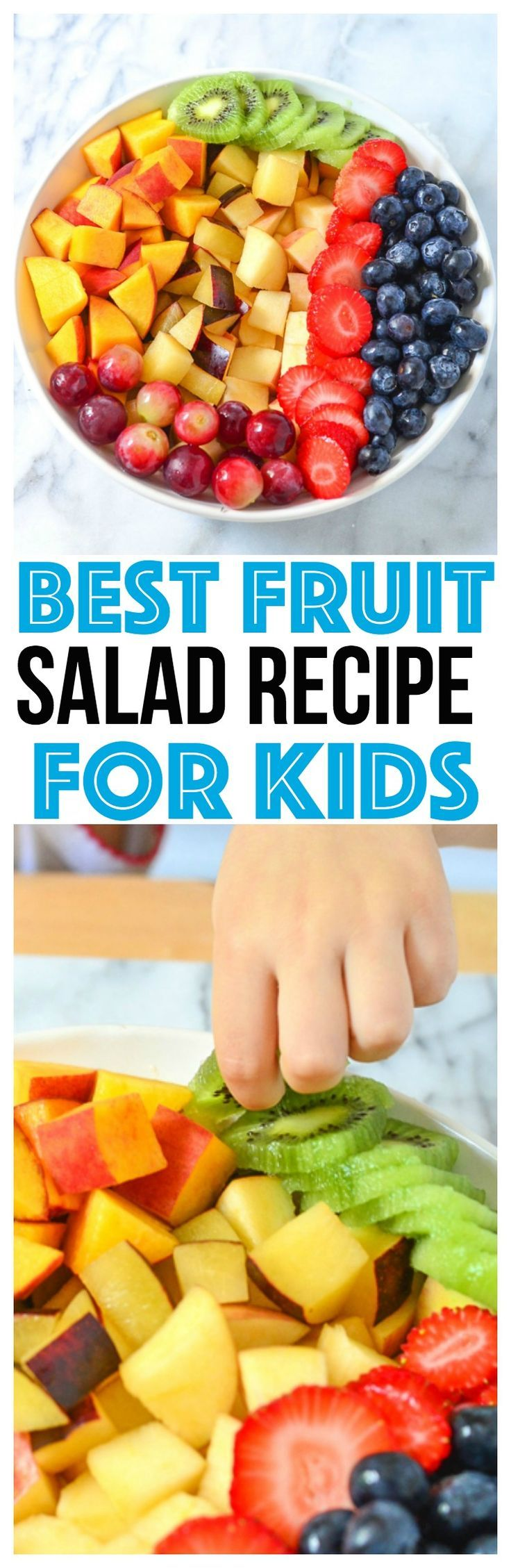 The Best Fruit Salad Recipes for kids are one they will eat! Easy Fruit Salad recipes are the best, serve  fruit salad recipe with yogurt via @CourtneysSweets