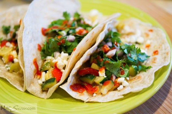 Tacos with Cilantro, Feta & Sriracha #vegetarian #healthy #tacos ...