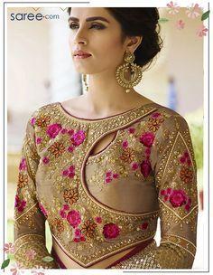 Pink Silk Saree with Resham Embroidery Work - 9