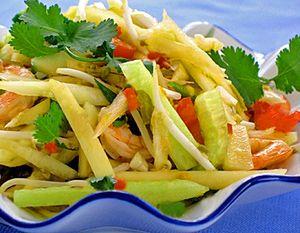 Thai Green Papaya Salad - Copyright Darlene A. Schmidt, 08/20/10