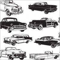 Line Drawing of old cars | Cars drawings Free vector for free download (about 3 files).