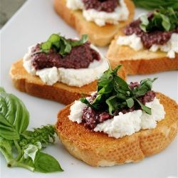 More like this: goat cheese , tapenade and goat .