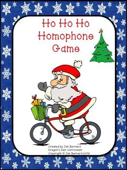 FREE! Add a little homophone learning into that Christmas craziness with this fun homophone game! Homophones are hard for kids and adults alike. This game puts a little Christmas fun into a tricky skill!