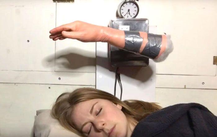 This Unique Alarm Clock Literally Slaps You Awake