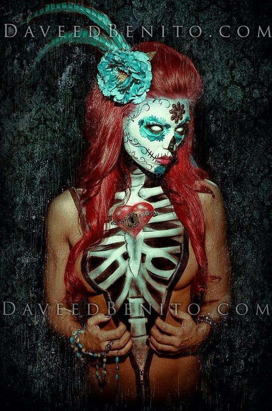 Sugar skull body | http://paintbodyideas.13faqs.com
