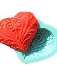 δαντέλα σε σχήμα καρδιάς σαπούνι φοντάν μούχλα καλούπια κέικ σοκολάτας μούχλα για το ψήσιμο κουζίνα ζάχαρη κέικ εργαλείο διακόσμηση