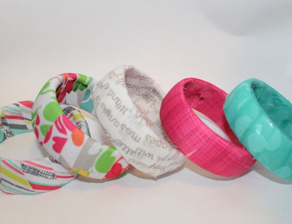 Fabric Bangle Bracelet Made with ThirtyOne by BetsysSupplies