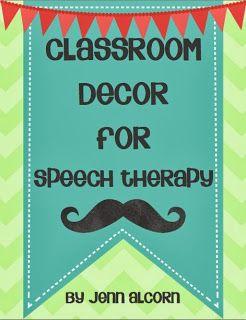 Crazy Speech World: Speech Classroom Decor!
