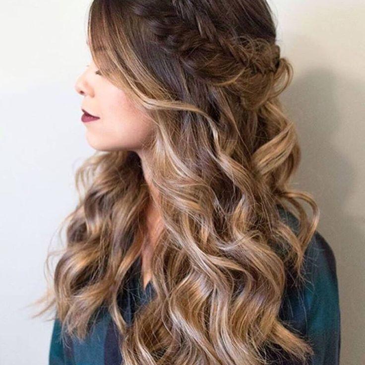 Simply gorgeous Bohemian style!WE LOVE HAIR! #hair #bohemian #braids #love#curls#ombre #balayage #style www.luciacsalon.com 973-784-4343