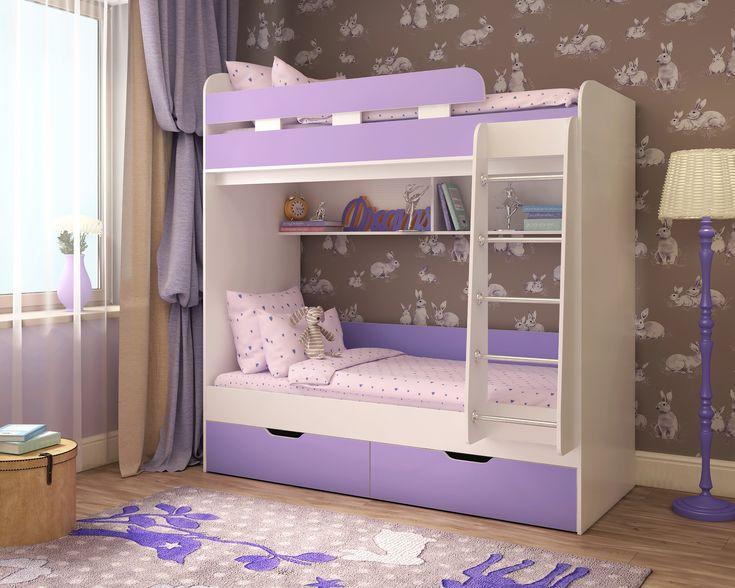 Двухъярусная кровать Юниор 5  Кровать чердак Юниор 5 - удобный и недорогой комплекс из двух кроватей. Быстрый и безопасный доступ на 2-й ярус обеспечивает удобнаялестница.    Кровать чердак Юниор 5  решает проблему малого пространства сочетая в себе целый ряд функций: спальное место для двоих, навесная полка для книг и игрушек, вместительные выдвижные ящики под кроватью. Нижний ярус можно использовать как диван. А при добавлении бортика, диванчик превращается в кровать.…