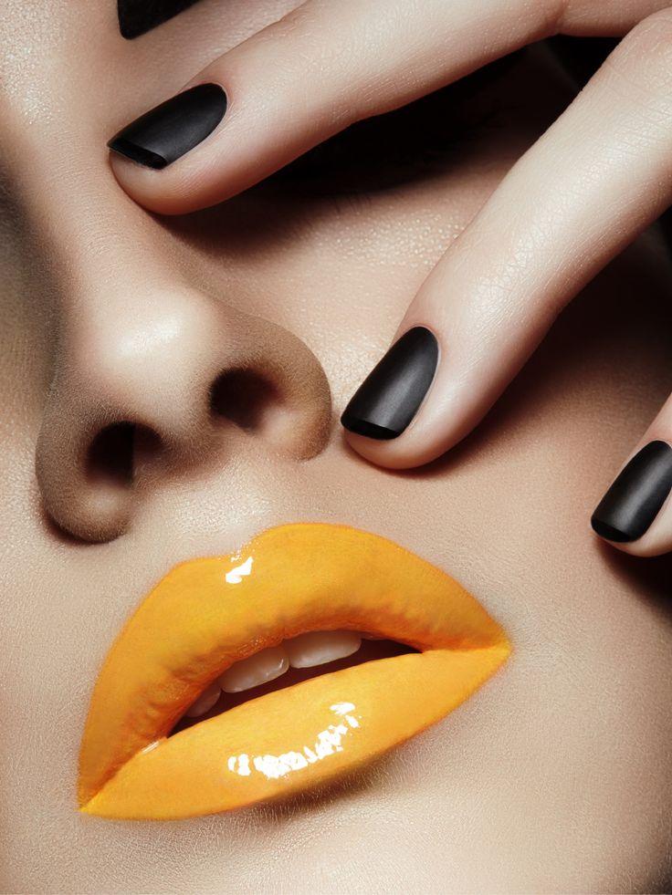 yellow matte nails - photo #42