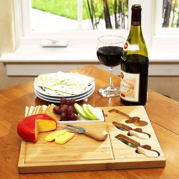 Picnic At Ascot Celtic Cheese Board Set with Ceramic Dish