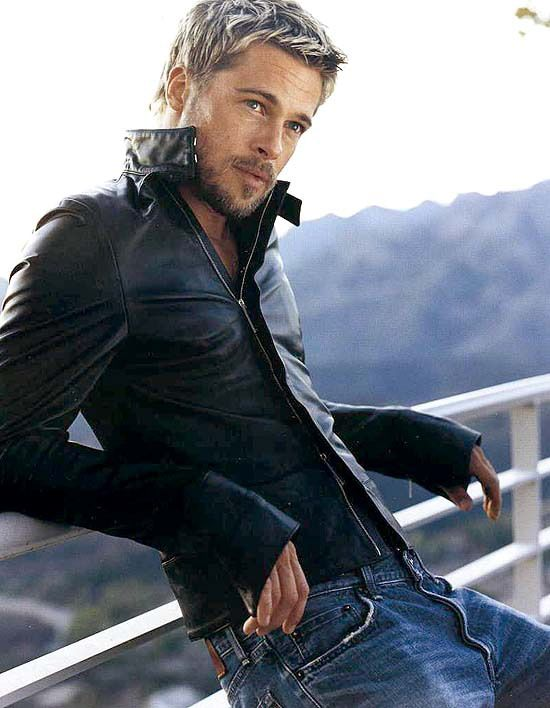 Dear Brad Pitt, Give me your leather jacket....and your wife!!
