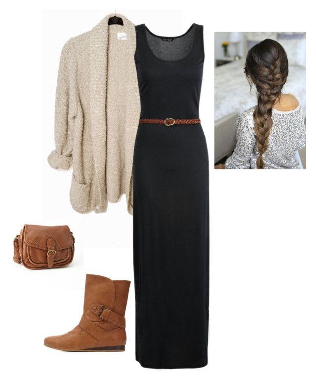 Long dress outfit ideas autumn