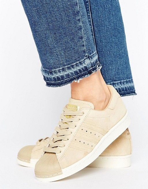 Adidas Originals Beige Superstar 80's Sneakers...