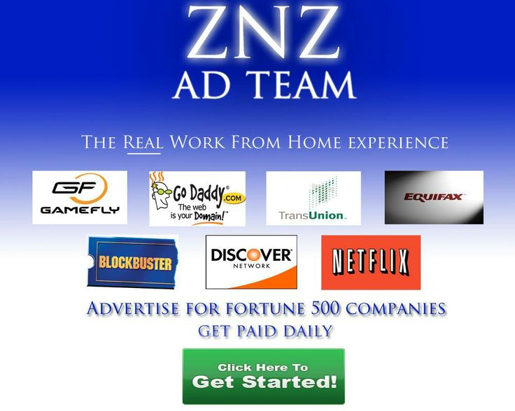 If you haven't signed up for ZnZ yet, you are missing out on some crazy daily income. Remember, it is absolutely free to join and guaranteed to make you money if you just follow the simple yet powerful system. Get started today and I will personally mentor you to get you up and running. Visit My page @ www.workathomeznzadteam.com