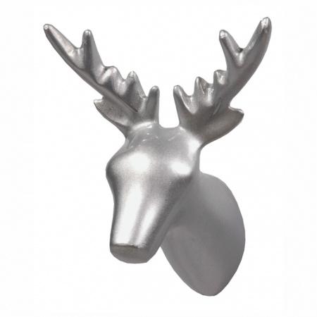 Kidzsupplies | The Zoo kapstokhaakje hert zilver | Webwinkel voor baby- en kinderkamer decoratie
