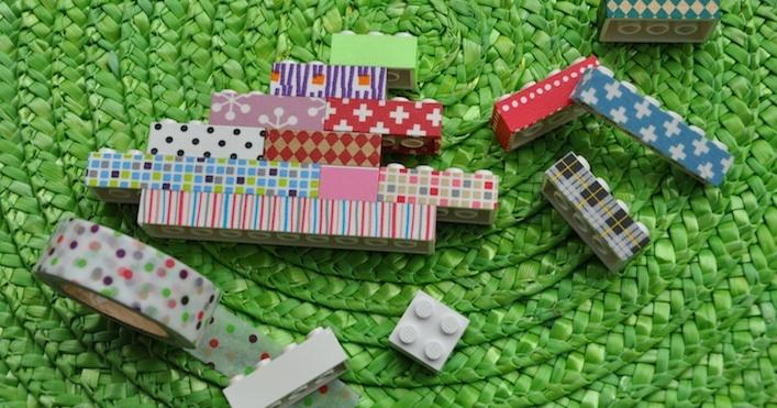Use masking tape on Lego! [ From: http://mt-maskingtape.com ]