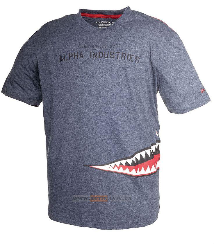 Футболка Shark Teeth Tee Alpha Industries (Heather Navy)  Розміри: під замовлення  Ціна: 29 $