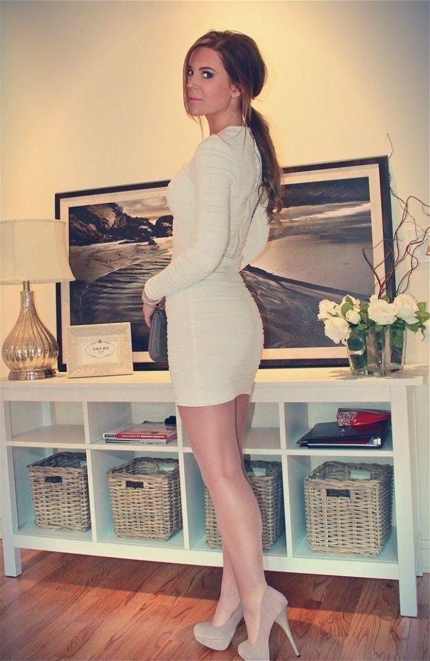 Men Wear Should Wear Short Dresses, High Heels  Pantyhose -2783