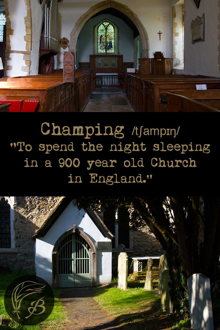 As someone who has always been a fan of the macabre, I leapt at the chance to spend a night champing in a 900-year-old church, in Fordwich.