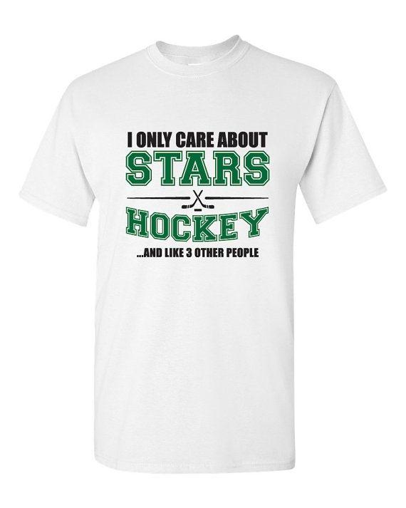 Dallas Stars Hockey Shirt NHL Stars Hockey Mens by BombDaddyTees