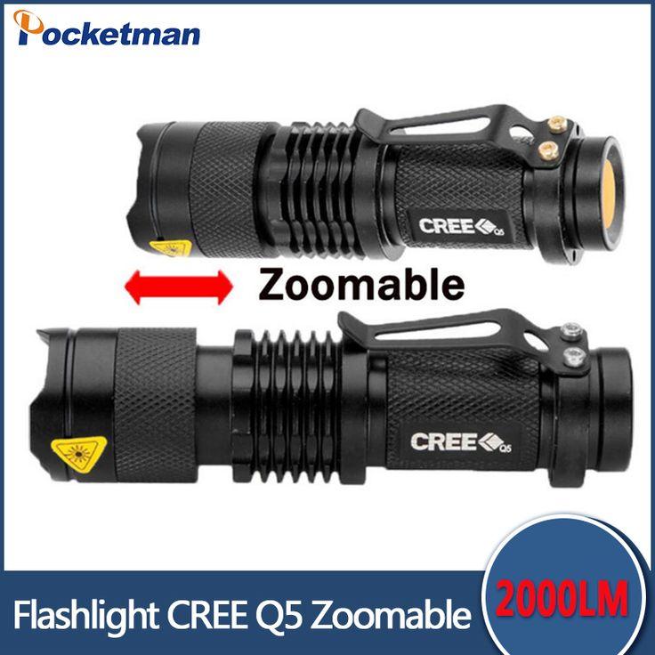 Zk87 SK68 penlight 2000LM Étanche LED Lampe Torche 3 Modes zoomables Mise Au Point Réglable Lanterne Portable Lumière utiliser AA 14500